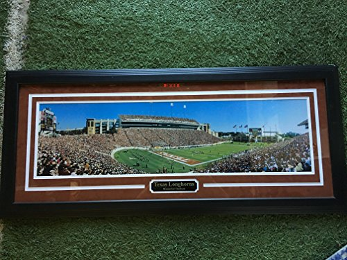(Texas Longhorn Memorial Stadium Field Large Custom Framed Panoramic Picture Image)