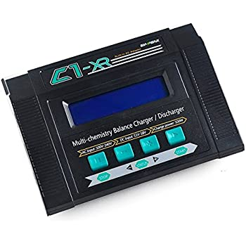 Crazepony EV-PEAK C1-XR Lipo Battery Balance Charger Discharger LiHV Version 100W 10A AC/DC with JST Parallel Charging Board