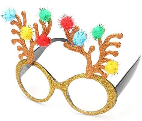 set scherzt Glitter lustige Weihnachtsbaum Sonnenbrille Gläser Partei 3