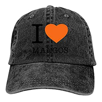 LeoCap I Love MANGOS Baseball Cap Unisex Washed Cotton Denim Hat Adjustable Caps Cowboy Hats