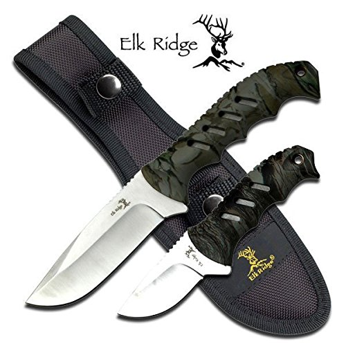 Elk-Ridge-ER-532CA-Fixed-Blade-Knife-Set-95-and-625-Inch-Overall