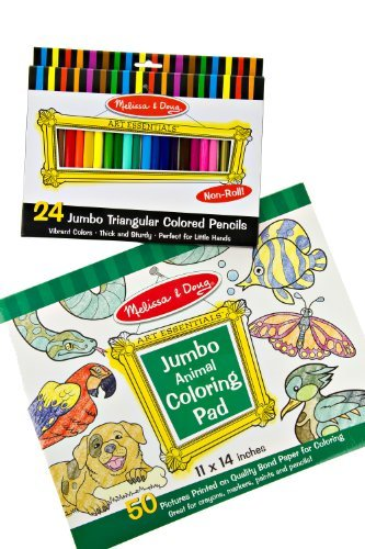 Melissa And Doug Art Jumbo Triangle Crayons And Jumbo Poster