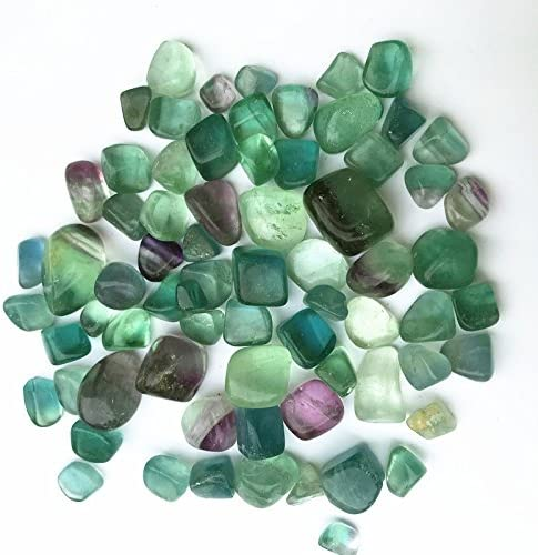 1//2 Lb Lots Tumbled Natural Colored Fluorite Stones Polished Minerals