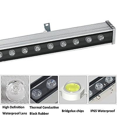 RSN LED 24W Linear Bar Light Cool White 6000K Outdoor Wall Washer IP65 Waterproof 2 Years Warranty