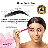 Vertex Beauty Womens Eyebrow Razor Brow Shaping