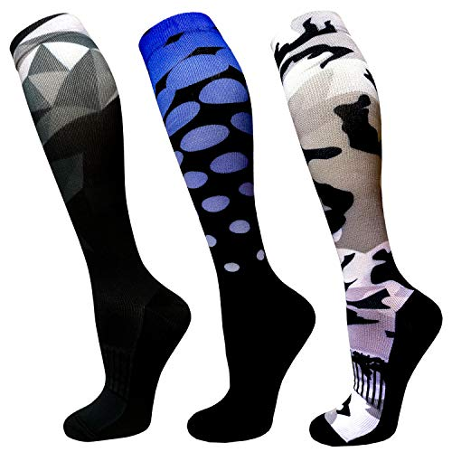 Copper Compression Socks For Men & Women-3 Pairs,15-30mmHg is Best For Running,Athletic,Medical,Pregnancy and Travel (Multicolour 22, S/M (US Women 5.5-8.5/US Men 5-9))