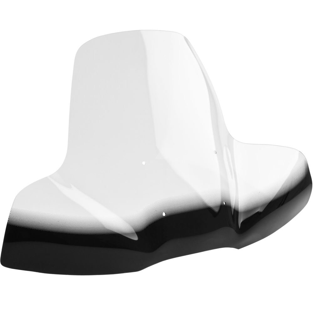 Rage Powersports ATV-WINDSHIELD Clear Acrylic ATV Windshield with Black Accent Hand-Guard