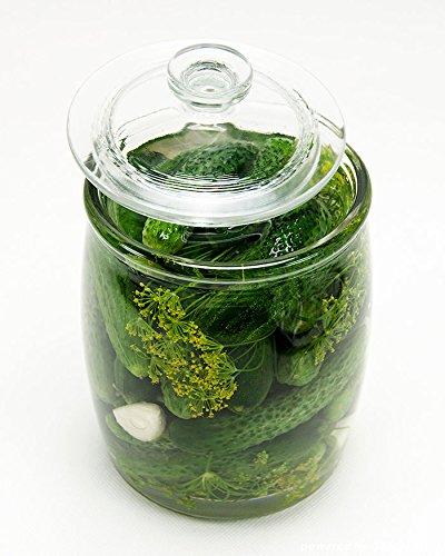Einmachgl/äser Einmachglas Einweckglas aus Glas mit Deckel 2,25L//5L//8L//10L Gurkenglas 5L