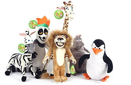 HOT SALE MADAGASCAR CHARACTER TEAM CHARACTERS PLUSH TOYS ALEX GLORIA MARTY MELMAN PENGUIN JULIEN STUFFED TOYS BABY TOY KIDS -