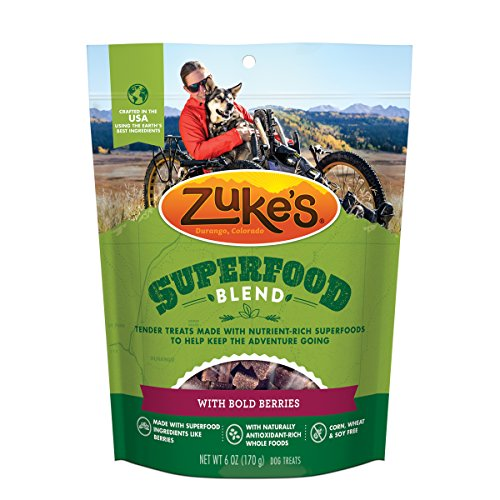 Zuke'S Superfood Blend With Bold Berries Dog Treats - 6 Oz. Pouch -