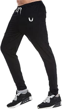 Deportes Akalnny Pantalones Hombre Casuales Deporte El/ásticos Suelto Joggers Largos Pants con Bolsillos Adecuado para Trotar Fitness