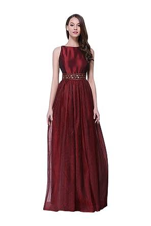 Beauty-Emily Pailletten Plissee Ohne Arm O-Ansatz A-Linie Tanks  Abendkleider  Amazon.de  Bekleidung bd4720b37c