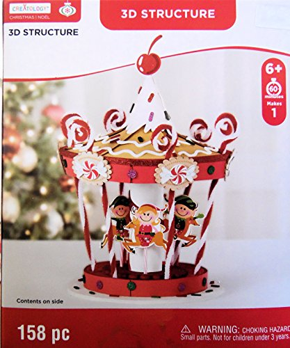 Christmas Holiday Elf Carousel Craft 3D Foam Kit 158 (Christmas Crafts For Adults)