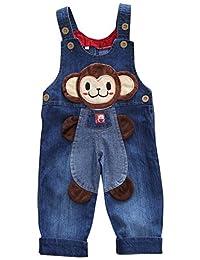 Happy Cherry Unisex Babys Cartoon Clothes Denim Soft Bib Pants Overall Trousers 6-24 Months