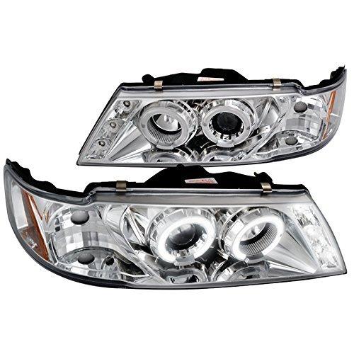 Spec-D Tuning 2LHP-SEN95-TM Nissan Sentra 200Sx Halo Chrome Clear Projector Head Lights - 200sx Halo Headlights