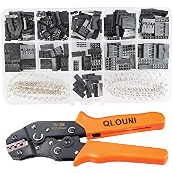 QLOUNI 2.54mm Pitch JST SM Pins & SN-28B Crimping Tools Dupont 620Pcs 1 2 3 4 5 6 Pin Housing Connector Male Female Crimp Pins Adaptor Assortment Kit