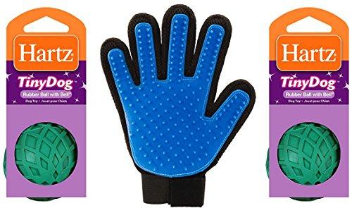 Hartz Pet Grooming Glove ~ Gentle Deshedding Glove ~ Five Fi