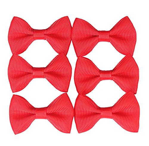 Bow Tie Applique - YAKA 100PC Grosgrain Ribbon Mini Bow Ties Craft,Scrapbooking DIY Embellishmen Projects,Bowties Decorations for DIY Kids Hair Clips,Pets Hair Bows(1.5