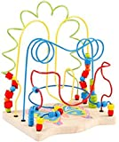 Vidatoy Large-sized Luxury Wooden Bead Maze Roller Coaster for Kids - Butterfly