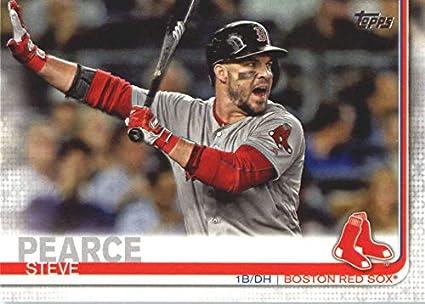 promo code 2553d 4ffef Amazon.com: Baseball MLB 2019 Topps #694 Steve Pearce Red ...