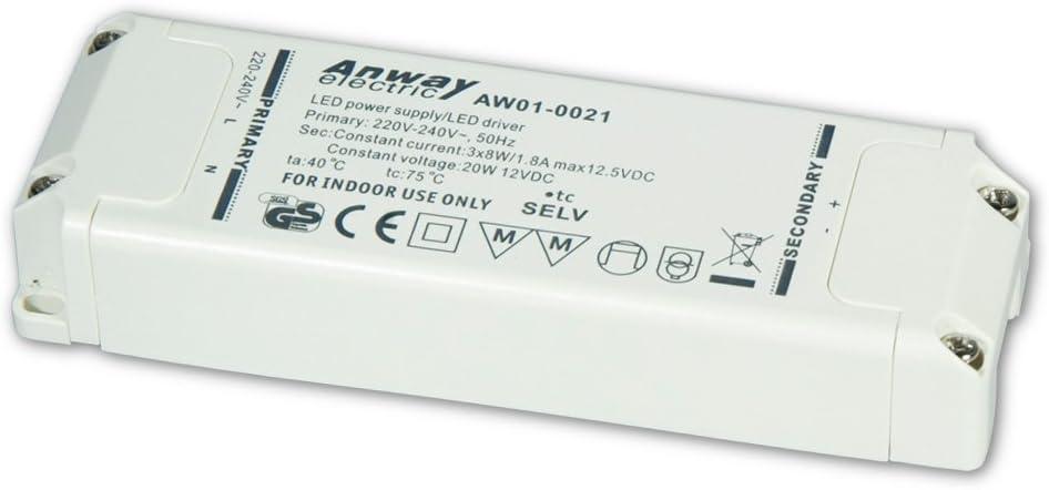 20W. 1,8a LED Driver  Anway AW01-0021A NEU   3 x 8W