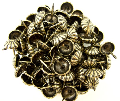 C.S. Osborne Daisy Nail Tacks Antique Brass 1/2