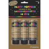 Confetti Party Poppers | Gold | Party Decor