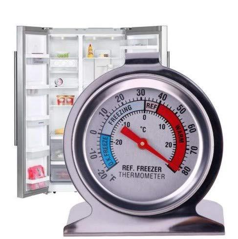 JSDOIN Refrigerator Thermometers Classic Series Large Dial Thermometer (Freezer/Refrigerator) (1PACK, Freezer-Refrigerator)