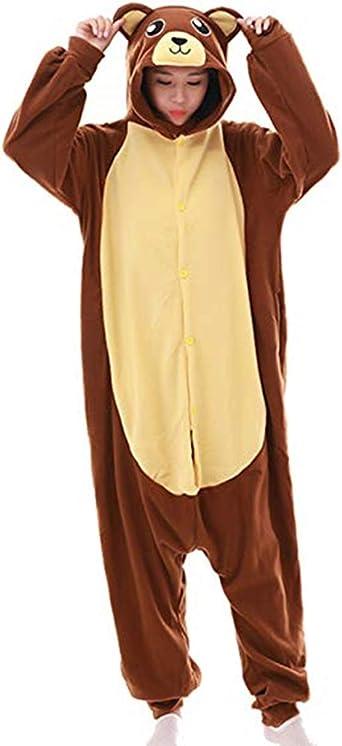 Leon Pijama para adulto, traje de noche para Halloween, disfraz de Navidad, fiesta de disfraces