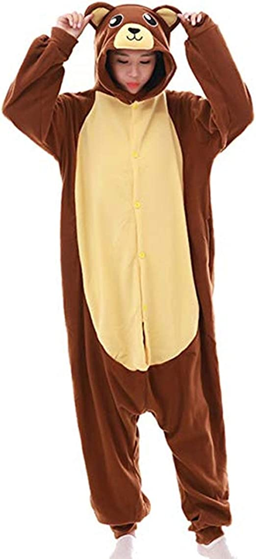 Oso café Pijamas Animal Cosplay Disfraces Carnaval Halloween ...