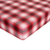 Glenna Jean Lumberjack Flannel Crib Sheet Fitted 28''x52''x8'' Nursery Standard
