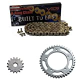#5: 2000-2001 Honda CBR929RR O-Ring Chain and Sprocket Kit Gold (520 conv)