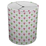 Hardback Linen Drum Cylinder Lamp Shade 8'' x 8'' x11'' Spider Construction [ Hot Air Balloons ]