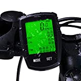 FUZADEL Wireless Cycle Computer Mountain Bike Speedometer Universal Bicycle Speedometer Waterproof Bicycle/Bike Computer Odometer Slim
