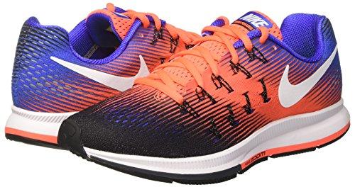 Nike Air Zoom Pegasus 33, Zapatillas de Running Para Hombre Varios Colores (Black/Hyper Orange/Paramount Blue/White)