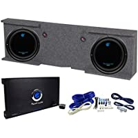 GMC Chevy Crew Cab 07-13 Box + 2) Planet Audio 10 Subs + 2 Channel Amp + Wiring