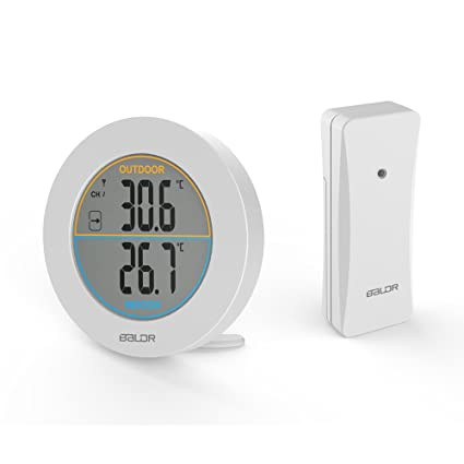 Inalámbrico Termómetro Digital Pantalla LCD Medidor De Temperatura De La Pared Sensor/Interior