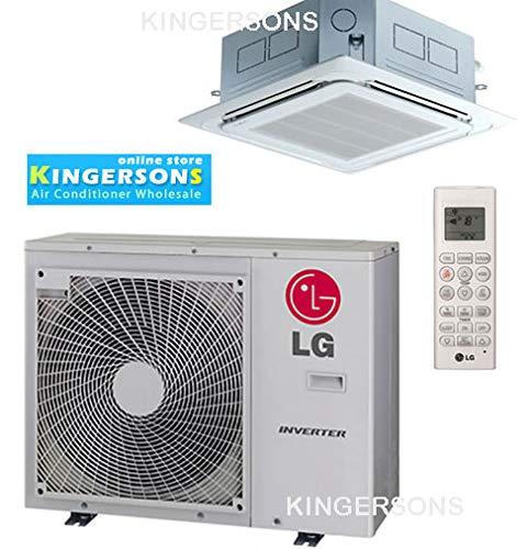 LG 9,000 BTU SEER 18 Ceiling Cassette Ductless Mini-Split Inverter Heat Pump System (Lg Split Heat Pump)
