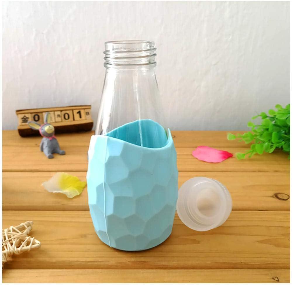 Zhaoyangeng Glass Water Bottles Sports Bottle for Drinking 300Ml Protein Shaker Cute Kids Agua Milk Tea