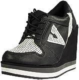 Volatile Kicks Women's Wildfoxy Sneaker,Black,7 B US