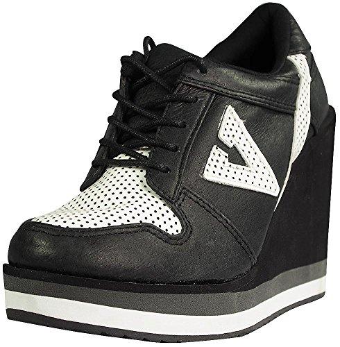 Volatile Kicks Women's Wildfoxy Sneaker,Black,8 B US