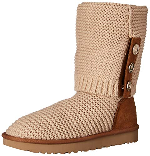 UGG Women's W Purl Cardy Knit Fashion Boot, Cream, 10 M US (Boots Leather Women Ugg)