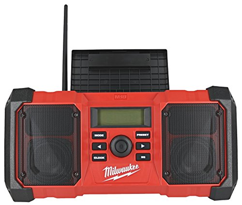 Milwaukee 2890-20 18V Dual Chemistry M18 Jobsite Radio with Shock Absorbing End Caps, USB 2.1A Smartphone Charging, and 3.5mm Aux Jack by Milwaukee (Image #3)