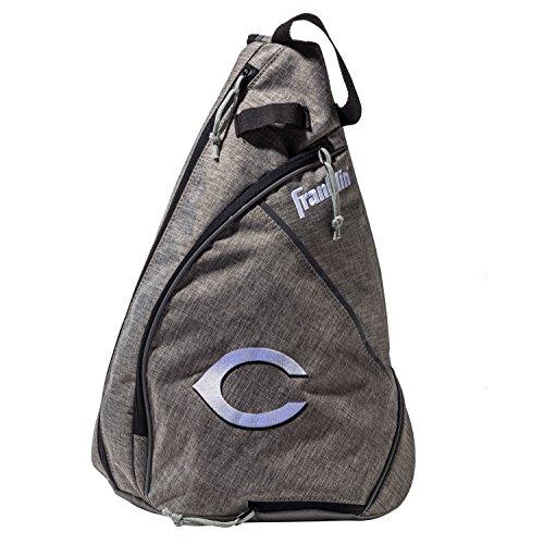 Franklin Sports Cincinnati Reds MLB Team Licensed Crossbody Slingbak Baseball or Softball Shoulder Bag for Men & Women
