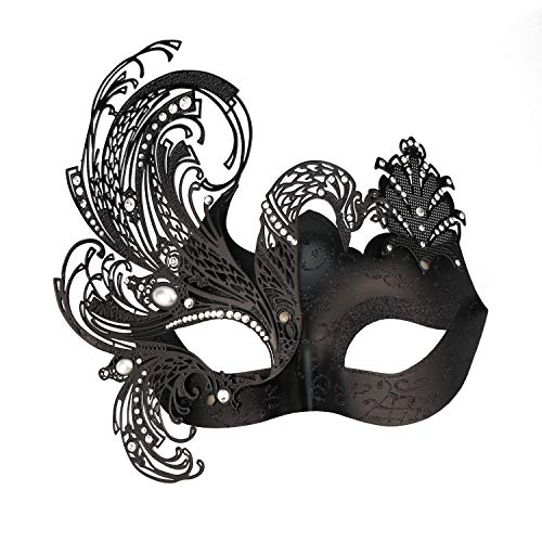 Mysterious Venetian Butterfly Lady Masquerade Halloween Party -