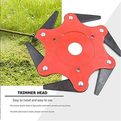 Amazon.com: Brocha para desbrozadora, 6 cuchillas de acero ...