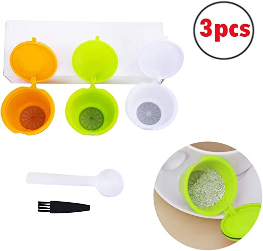 FineInno Cafetera Capsulas Recargables Refillable Coffee Capsules Filtro Reutilizable Cafe Reusable Coffee Filter Compatibles Dolce Gusto Gratis Cuchara,Cepillo: Amazon.es: Hogar