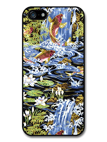 Koi Carp Fish And Water Lilies In Lake Cool Style Pattern coque pour iPhone 5 5S
