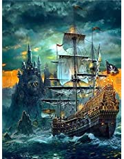 Sea Sailing Landscape﹣Paint by Numbers for﹣Beginner Best Paint by Number Kits Sets﹣DIY Painting Gifts﹣40x50cm﹣Frameless
