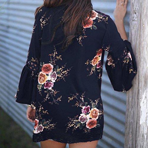 612e9025960a0 ... Floral Tägliche Herbst Lace Frauen Cape Damen Casual Mantel Winter Jacke  Öffnen Vemow Strickjacke Kimono Outdoors ...